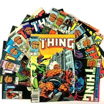 The Thing 13 Issue Comic Book Lot Marvel Copper Age Spider-Man Wonder Man - $19.75