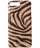 Michael Kors Glitter Zebra iPhone 7 Cover Black Suntan - $9.79