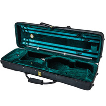 *GREAT GIFT* SKY Deluxe Oblong 4/4 Violin Case (Green) **CLEARANCE** - $52.99