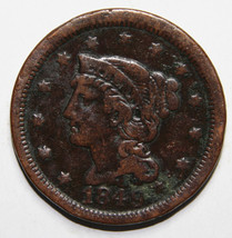 1849 Large Cent Liberty Braided Hair Head Coin Lot # A 1597
