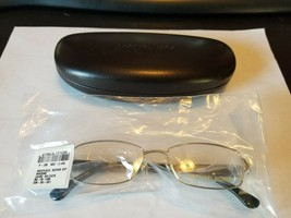 Michael Kors MK 338 045 Eyeglasses Frames Glasses Silver / Black 50-16-135 NEW - $53.46