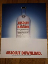 Absolut Download Original Magazine Ad - $3.99
