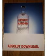 Absolut Download Original Magazine Ad - $3.99