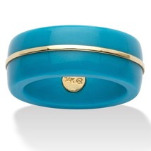 Round Viennese Turquoise 14k Yellow Gold Ring Band - $54.99