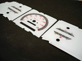 88 89 90 91 92 Ford Bronco 2 II White Face Glow Through Gauges Red Numbers - $16.82