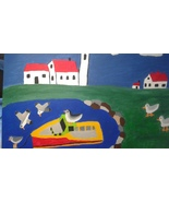 """Calm Waters"" FREE S & H Fishing Boat, Lighthouse & Seagulls in Atlantic... - $28.00"