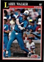 1991 Score Baseball Card, #241, Larry Walker, Montreal Expos - $0.99