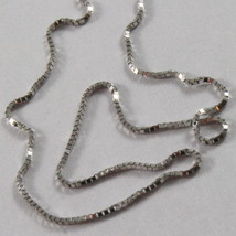 18K WHITE GOLD CHAIN NECKLACE 0.5 mm MINI VENETIAN LINK 19.70 inc. MADE IN ITALY image 2