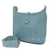 HERMES Evelyne3 PM Taurillon Clemence Bleu Jean Shoulder Bag France #N Authentic - $1,957.12