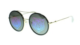 Gucci Women Round Sunglasses GG0061S Metal Frame 56mm Authentic - $193.03+