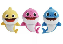 WowWee Pinkfong Baby Mommy Daddy Shark Song Puppets (3) w/Tempo Control ... - $35.63