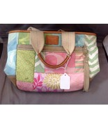 Coach Leather Suede Canvas Patchwork Tote Handbag Purse L05Q-1481 Spring... - $19.80