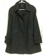 Mystic Women's L Large Coat Jacket Charcoal Grey Made in Dominican Republic - $12.38