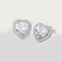 Vtg 925 Sterling Silver DA Heart Design Stud Earrings - $7.83