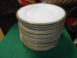 Great Sheffield Regency Gold Porcelain Set Of 15 Dinner Plates - $71.86