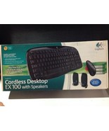 Logitech Cordless Desktop EX100 Keyboard With Speakers Stamped 2008 New ... - $79.20