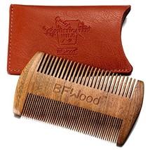BFWood Pocket Beard Comb - Sandalwood Comb with Leather Case image 1