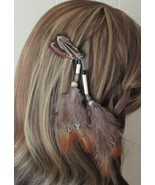 American Made! Beautiful Feather Hair Pieces #A Barrette, Alligator  Clasp  - $18.95