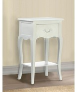 WHITE COUNTRY LOFT Nightstand Wooden Side Table - $102.00