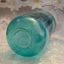 Vintage Unusual Dark Aqual Blue Glass Vase - See Pictures for better Description image 3