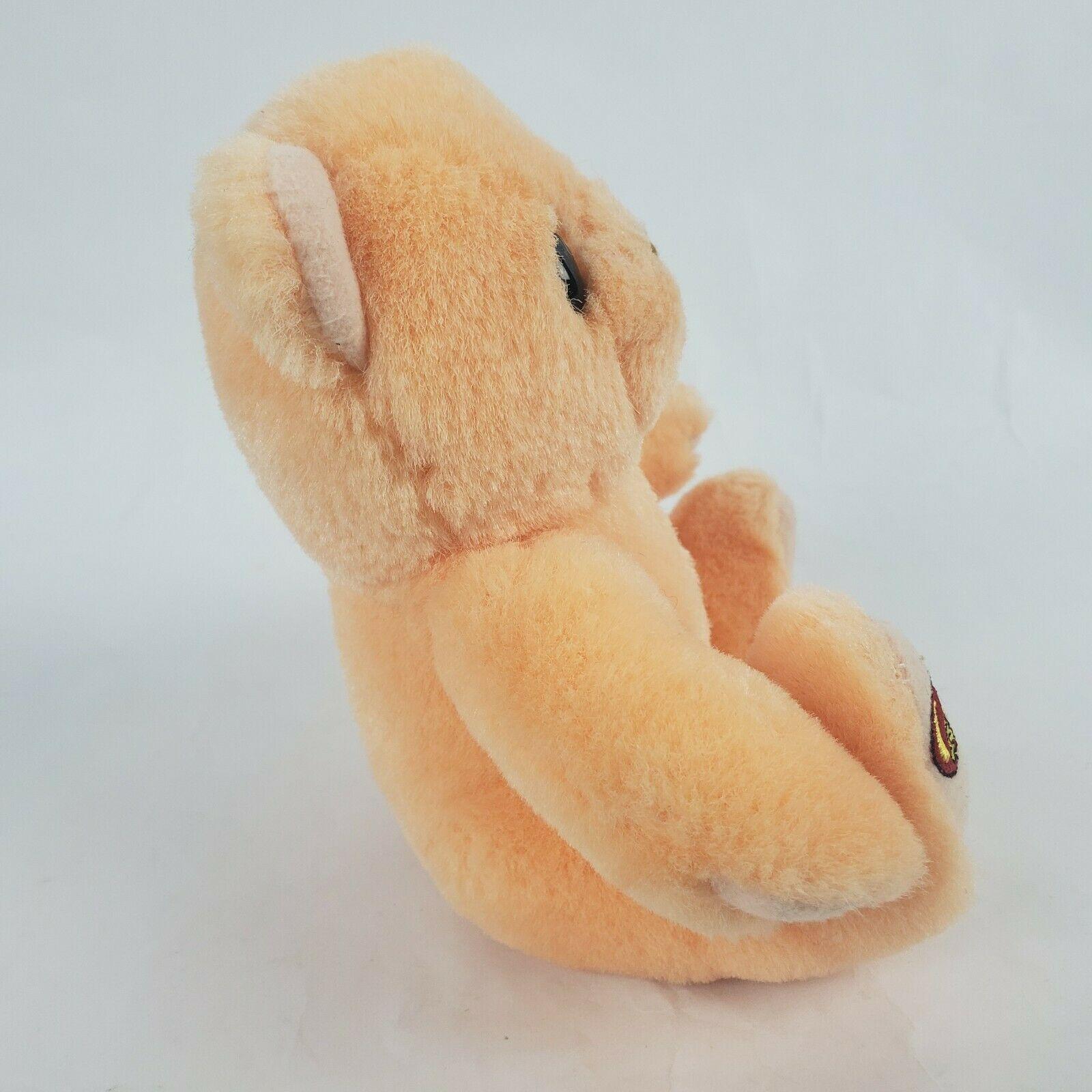 "Jelly Belly Orange Bear 6"" Plush Teddy Stuffed Animal Hermen Goelitz Enesco image 5"