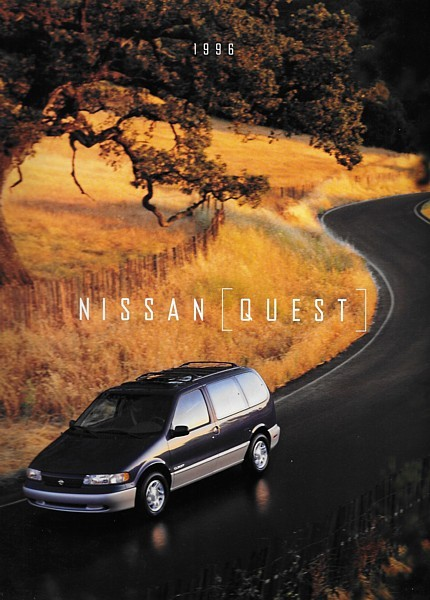 1996 Nissan QUEST sales brochure catalog US 96 XE GXE