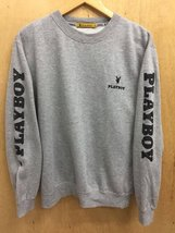 Vintage Playboy Big Embroidery Logo SpellOut Grey Black Colour Sweatshirt  - $85.00