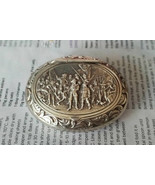 Antique Snuff Box Dutch Minerva Silver Repousse 1871 (216) - $214.49