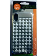 I Phone X/XS Grey Thread Phone Case - $2.51