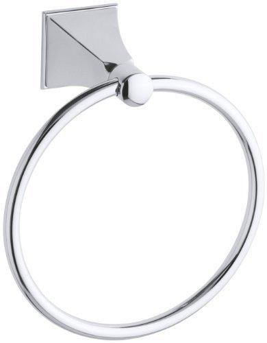 KOHLER K-487-CP Memoirs Towel Ring with Stately Design, Polished Chrome