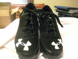 Under Armour Leadoff Low Baseball/Softball Cleats Black/Gray Size:7.5 - $20.00