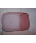TUPPERWARE Rose Pink Divided Snack Tray w/Cover - $8.99