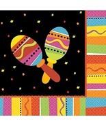 Fiesta Fun Cinco de Mayo Mexican Theme Party Paper Luncheon Napkins - £5.80 GBP