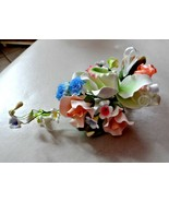 Pastel Porcelain flower corsage, wedding, anniversary, prom special occa... - $35.00