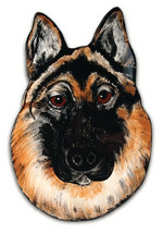 GERMAN SHEPHERD Plate Wall Hanging Dogs Rescue Me Now Ceramic Pets Rocky... - $19.79