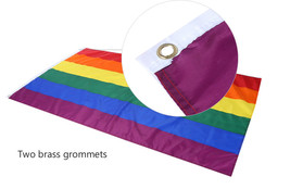 """Rainbow Pride Flag 35"""" x 59"""" US Seller! Fast Shipping! Fly your pride!  - $12.59"""