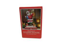 Potpourri Designs Santa Hand Painted Stocking Hanger with Adjustable Hook