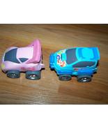 Lot of 2 Disney Store Princess Turbo Cars Blue Little Mermaid Pink Cinde... - $12.00