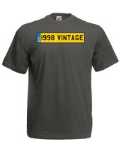 1998 Vintage Number Plate Birthday Graphic Quality t-shirt tee mens unisex - $13.44