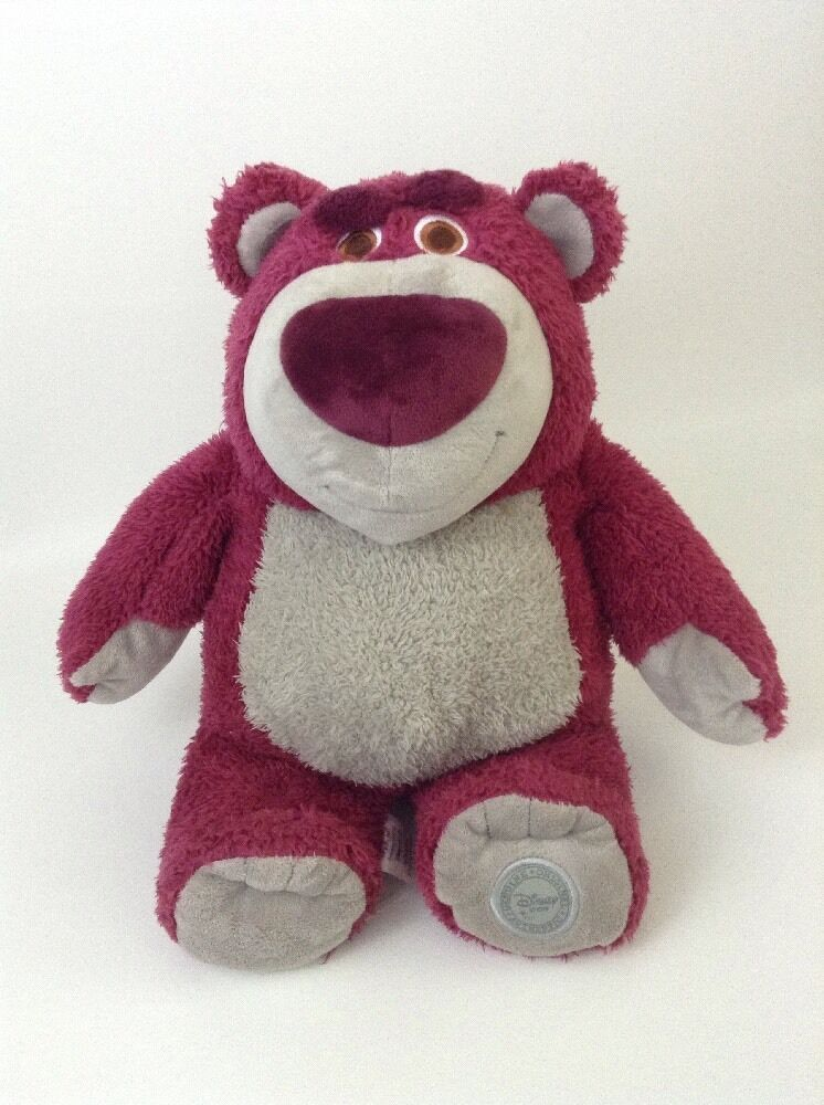 "Toy Story 3 Lotso Scented Strawberry Bear 14"" Plush Stuffed Animal Disney Store"