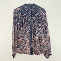 Lucky Brand S Small Button Up Floral Long Sleeve Blouse Shirt Top - $19.16
