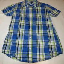 Boy's youth Tommy Hilfiger Plaid button up short sleeve shirt Boys L 16/... - $16.03