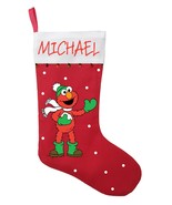 Elmo Christmas Stocking - Personalized and Hand Made Elmo Christmas Stoc... - $29.99