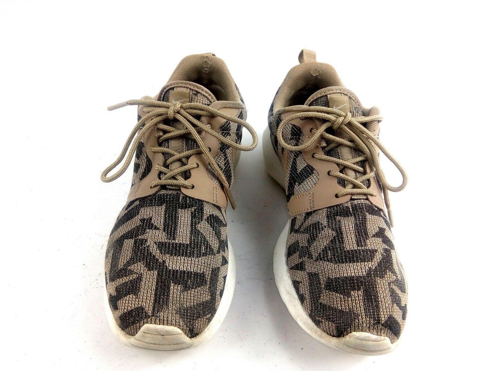 Nike Women's Sneakers 6.5 Roshe Run One Jacquard Beige Desert Camo 705217 200 image 3