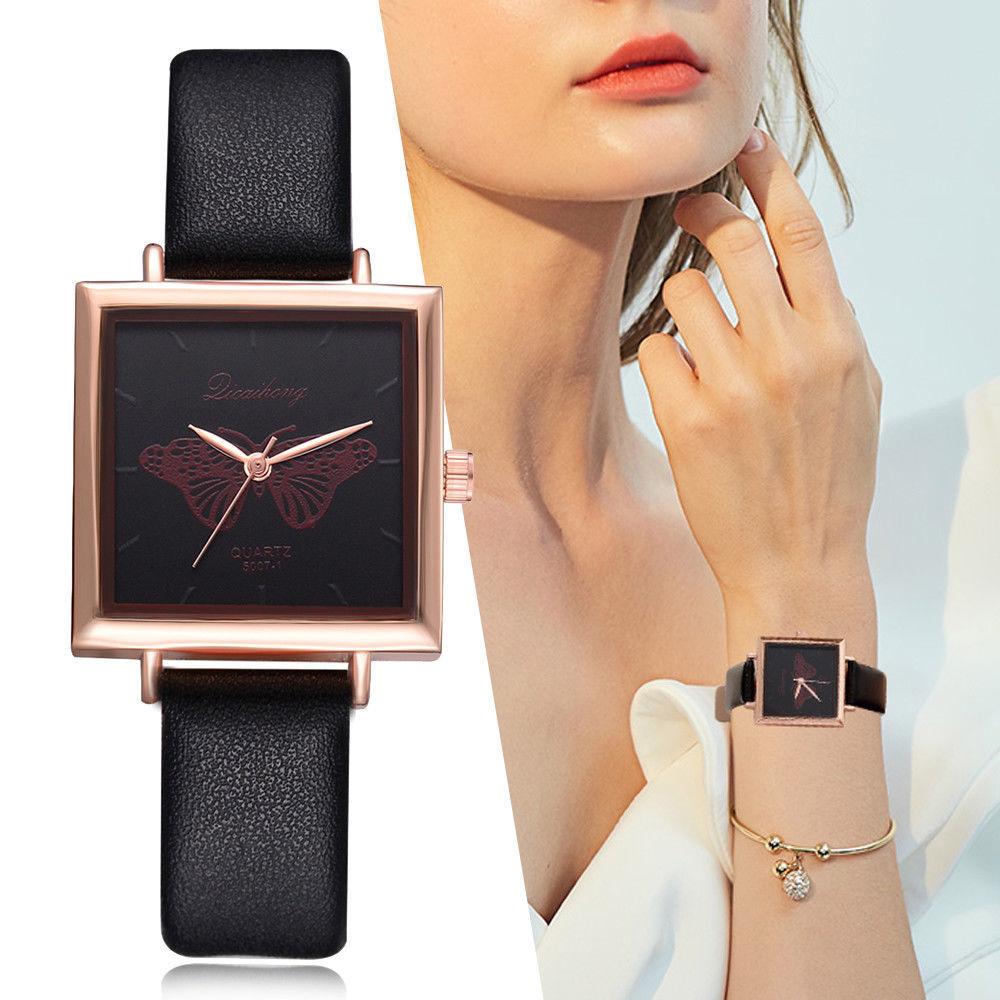 Lvpai® Watches Women Vintage Square Leather Strap Casual Quartz Ladies Fashion
