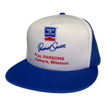 Vintage 90s Shelter Insurance Al Parsons Missouri Foam Mesh Trucker Hat Cap - $19.79