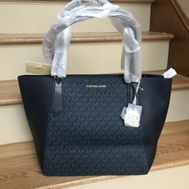 NWT Michael Kors Kimberly Large Zip Tote Signature Shoulder Bag $348 - $99.99