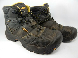 Keen Logandale Size 7.5 M (D) EU 40 Men's WP Steel Toe Work Boots Black 1017828