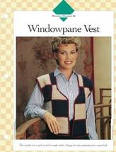 Ladies Windowpane Vest Single Pattern Vanna White Stitched in Single Cro... - $3.46