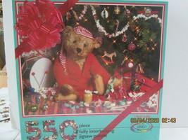 """Jigsaw Puzzle CEACO 550 Piece """"I Feel Jolly""""  Teddy Bear  Christmas - $7.92"""
